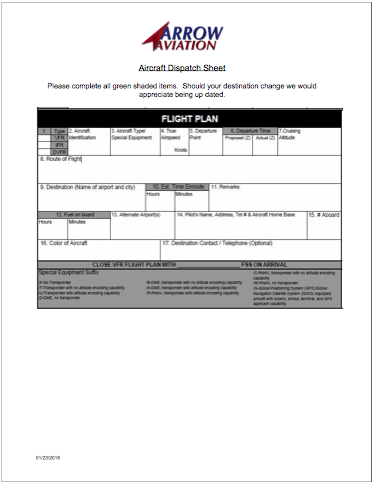 dispatch sheet